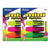 48 of BAZIC Mini Fluorescent Highlighters with Cushion Grip (3/Pack)