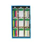 81 of Asstd Color Star & White Reinforcement Labels w/ Display