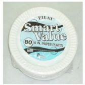 """60 of 6"""" 80ct Wht Paper Plates"""