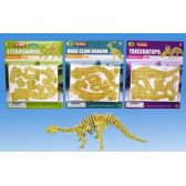 72 of 3D Dino puzzle in blister card 4 asst