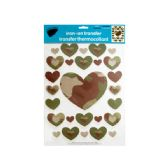 144 of Iron-On Camouflage Hearts Transfers