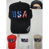 24 of Usa [stars & Stripes Letters] Hat