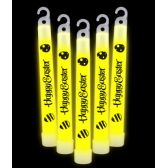 20 of 6 Inch Premium Happy Easter Glow Sticks- Yellow