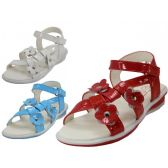 24 of Toddlers 3 flowers Top With Side Velcro Sandals
