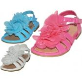 24 of Toddlers Silk Mesh Flower Top Sandals