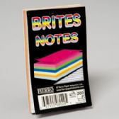 96 of Notes Pad 3x5 Inch Glued 5 Asstd Colours 300 Ct 5/16 Inch Ruled