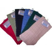 144 of 15x25 Solid Terry Kitchen Towel mono check Assts