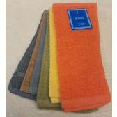 144 of 2 Pk 12x12 Heavy Solid Color Wash Cloth Assts 1.25lb S/O