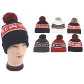 72 of Men's New York Pom Pom Beanie Hat
