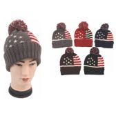 72 of Unisex American Flag Beanie Hat