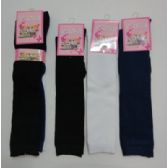 72 of 15 Inch Kids Knee High Socks Size 6-8 Assorted Solid Colors