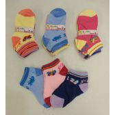 240 of Girl's printed Socks 2-4 [Butterflies]