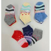 240 of Girl's printed Socks 2-4 [Stars & Stripes]