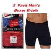 48 of FRUIT LOOM - HANES 2PK MEN BOXER BRIEFS IN FAMOUS BRAND PACKAGING