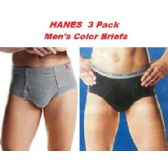 24 of HANES 3PK MEN COLOR BRIEFS ONLY SIZE LARGE (SLIGHTLY IMPERFECT
