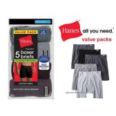 48 of HANES 5 PACK MEN'S BOXER BRIEFS ( SLIGHTLY IMPERFECT )