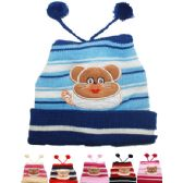 71 of KIDS WINTER HAT WITH BEAR - TOP POMS