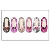 72 of Ladies Slipper Socks With Fur- Animal Pack S-M, M-L