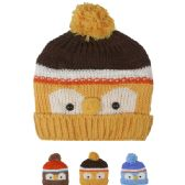 72 of KID WINTER HAT OWL FACE ASSORTED