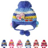 72 of KID KNITTED WINTER HAT ASSORTED COLOR