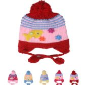 72 of KIDS STRIPED KNITTED WINTER HAT WITH FISH