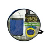 12 of Folding Nylon Bucket with Metal Handle