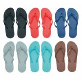 96 of Women's Flip Flops in Assorted Solid Colors