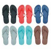 96 of Women's Flip Flops in Assorted Solid Colors