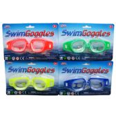 144 of SWIMMING GOGGLES 4ASST. COLORS