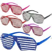 288 of RHINESTONE LOOK SHUTTER SHADE GLASSES.