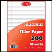 36 of Filler Paper, 200 Count, College Ruled