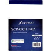 48 of AMPAD Scratch Pad 4x6 - 200 Sheets - White