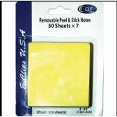 "60 of Peel & Stick Notes, 3""x3"", 50 Sheets Each, 7 Pk., Yellow"