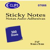 48 of Sticky notes, 300 sheets, yellow