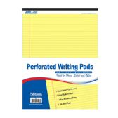 """48 of 50 Ct. 8.5"""" X 11.75"""" Canary Perforated Writing Pad"""