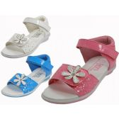 24 of Toddlers Velcro Top and Side With Flower Top Sandals