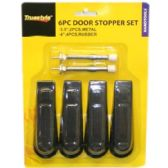 96 of 6PC DOOR STOPPER SET ASSORTED STYLES