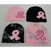 24 of Womens Breast Cancer Ribbon Winter Hat