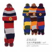 48 of Children Warm Winter Set With Plush Hat