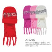 72 of Assorted Color Princess Hat