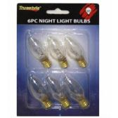 96 of 6PC NIGHT LIGHT BULB CLEAR 6.5x4.5 IN