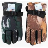 36 of Adult Camouflage Ski Gloves