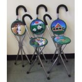 20 of Metal Walking Cane w/ Chair Assorted Design