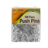72 of Clear Push Pins