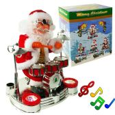 12 of Drum Playing Santa Claus With Lights & Music