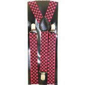 96 of PINK CHECKERED SUSPENDERS