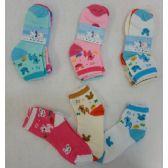 60 of 3pr Girl's Anklet Socks 6-8 [Deer & Bunny]