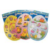 48 of EASTER CLING 15 X 12 INCH ASSORTED DESIGNS