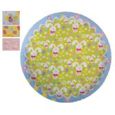48 of TIN EASTER TRAY 12.5 INCH ROUND ASSORTED COLORS