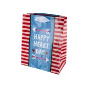 108 of Happy Heart Day Striped Gift Bag